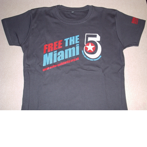 Tshirt: Miami 5 charcoal grey women's fitted shirt