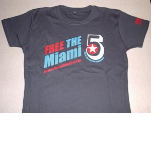 T-Shirt: Miami 5 charcoal grey women's fitted shirt