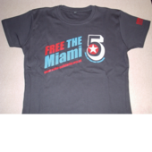 T-Shirt: Miami 5 charcoal grey women's fitted shirt