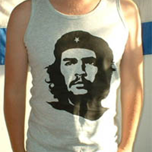 Tshirt: Che Guevara, black on GREY vest