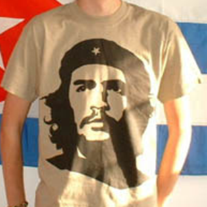 T-Shirt: Che Guevara, black on KHAKI