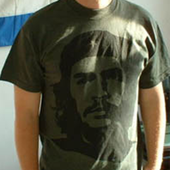 T-Shirt: Che Guevara, black on OLIVE