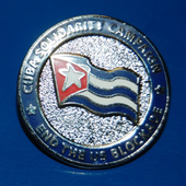 Cuba Solidarity badge