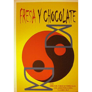 Film poster: Strawberry and Chocolate (Fresa y chocolate) - Yin&Yang design