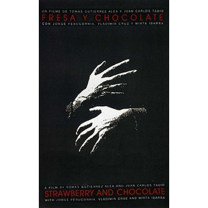 Film poster: Strawberry and Chocolate (Fresa y chocolate) - hands design