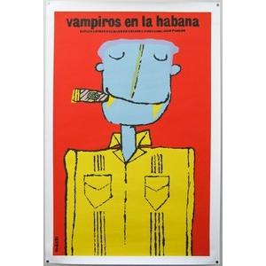Film poster: Vampiros en la habana by Eduardo Munoz Bachs 1985