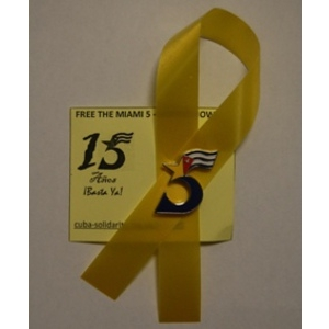 Miami 5 badge & yellow ribbon