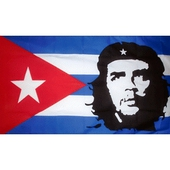 Cuban Flag with Che Guevara