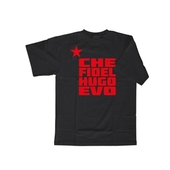 T-shirt: Che Fidel Hugo Evo - black