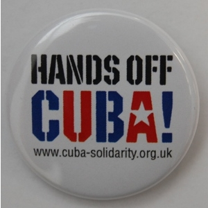 Badge: Hands Off Cuba!