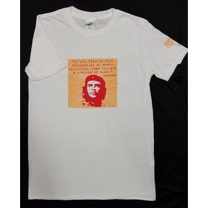 T-Shirt: Che Comrade - red and orange design on white shirt