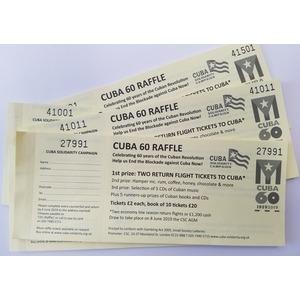 Raffle tickets: Cuba60 Blockade Buster Raffle book of 10 tickets