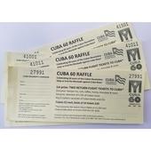 Raffle tickets: Cuba60...